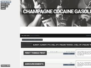 Champagne Cocaine Gasoline