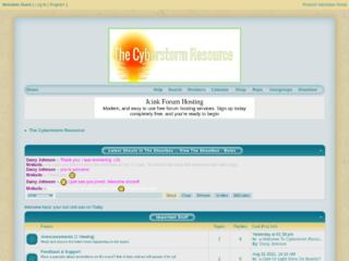 Screenshot of https://cyberstormresource.jcink.net