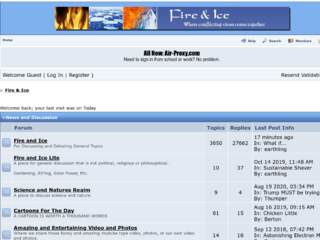 Screenshot of https://firenice.jcink.net