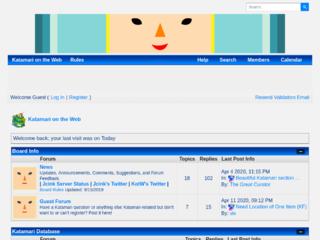 Screenshot of https://katamariontheweb.jcink.net