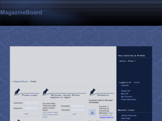 Screenshot of https://magazineboard.jcink.net