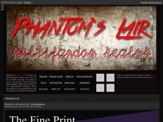 Screenshot of https://phantomslair.jcink.net