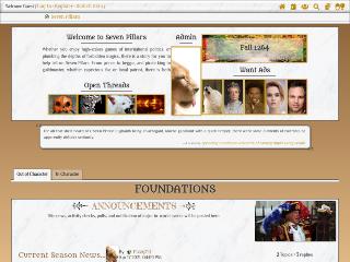 Screenshot of https://sevenpillars.jcink.net