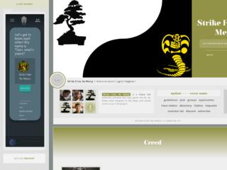 Screenshot of https://strikefirstnomercy.jcink.net