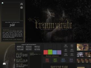 Screenshot of http://triumvirate.jcink.net