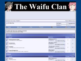 Screenshot of http://waifuclan.com